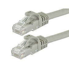Gray Computer Networking Cable Cat5e Ethernet Patch RJ45 LAN Internet Connection