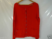 LACOSTE WOMEN'S orange BUTTON CARDIGAN LACOSTE 42 44 BNWT  HIGH QUALITY