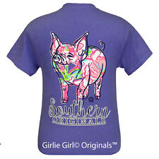 "Girlie Girl Originals ""Pig Pattern"" Violet Short Sleeve Unisex Fit T-Shirt"