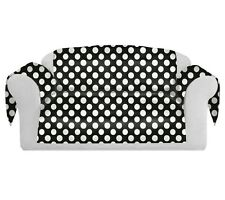 PolkaDots Decorative Sofa / Couch Covers Collection Black-White.