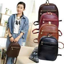 Women Student Girls PU Leather Trip Shoulder Backpack Handbag Satchel School Bag