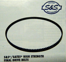 "S&S GATES HIGH STRENGTH 1 1/8"" 128 TOOTH FINAL DRIVE BELT FOR HARLEY MODELS"