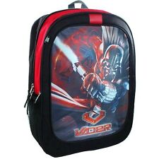"STAR WARS DARTH VADER Boys 16"" Full Size Multi-Pocket School Backpack NWT  $30"