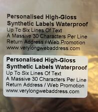 Personalised Baby Christening Gloss Labels Waterproof Clear / White 50mm x 25mm