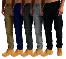 Mens Cargo Combat Work Trousers Chino Cotton Pant Work wear size 30-44