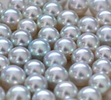 AAA++ Natural Luxury Gray High Quality Round Akoya 5-9mm Half Drilled Pearl