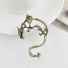 HOT Vintage Gothic Punk Temptation Ear Cuff Metal Dragon Bite Wrap Earrings