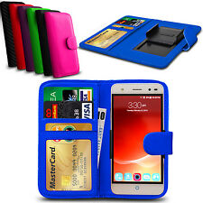 For Panasonic Eluga A2 Clip On PU Leather Flip Wallet Book Case Cover