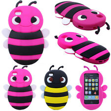 Cute 3D Bumblebee Bee Animal Soft Silicone Skin Case Cover For Apple iPhone 4S 4