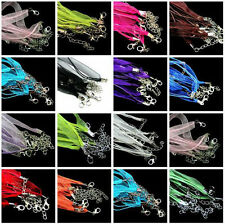 DIY 5/20PCS Organza Voile String ribbon Cord Necklace Lobster Clasp Chain