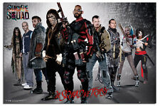 Suicide Squad Group Film Poster New - Maxi Size 36 x 24 Inch