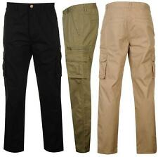 Pierre Cardin Cargo Pants Mens Trousers 8 Pockets Casual Belt ~All sizes 30- 38W