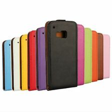 Genuine leather Flip Card Case Cover Skin Protector Shell Foil F HTC One M9 NEW