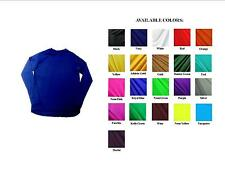 MENS' LONG SLEEVE COMPRESSION SHIRT SOLID COLOR SPANDEX FABRIC NWOT