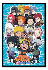 Naruto Shippuden SD Compilation Magnetic Notice Board Includes Magnets