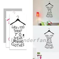 Life Is Short Quote Wall Sticker Art Vinyl Decal Home Room Decor DIY