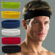 New Cotton Women Men Sport Sweat Sweatband Headband Yoga Gym Stretch Head Band