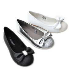 JB-JAHA Cute Bow Girls Kids Ballet Flats Casual/ Pageant Dress Shoes Size 9~4