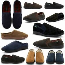 NEW MENS DUNLOP STYLISH COMFY WARM SLIP ON SLIPPERS INDOOR SHOES AUTUMN WINTER