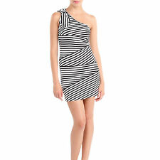 Striped dress with one shoulder Killah by Miss Sixty Size M UK 10 12
