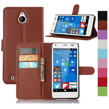 Luxury PU Leather Flip Case Stand Wallet Hard Back Cover For NOKIA Lumia Phone