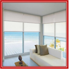 NEW! 150 x 210 Dual Double Blockout & Light Filtering Roller Blinds Ready Made