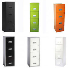 Metal Filing Cabinet 4 Drawer Locking A4 Files Draw Office Storage Stationary