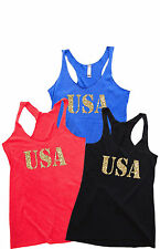 Women's Tank Top - USA. 4th of July Outfit. USA Tank. 4th of July Shirt Women.