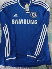 BNWT ADIDAS CHELSEA 2013-14 HOME LONG SLEEVE FOOTBALL SOCCER JERSEY MEN'S SIZES