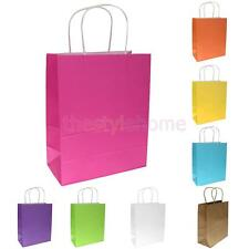 10x Kraft Paper Party Gift Treat Bags Wedding Loot Shopping Carrier Retail Bag