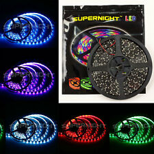 SUPERNIGHT® 3528 / 5050 SMD 300LEDs/150LEDs 5M Strip Light Black PCB Waterproof