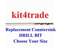 DART Replacement Countersink Flat Flange Drill Bit  - Choose Your Size