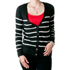 POL Clothing by Riverberry Juniors 100% Cotton Striped Cardigan