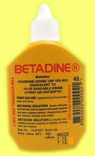 Betadine Povidone Iodine Antiseptic Solution First Aid Wounds Sterilisation 30ml