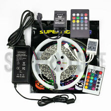 White-Reel 5M 5050 SMD150/300Leds RGB LED Strip Light / Remote / DC Power Supply