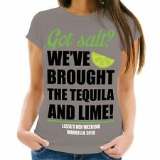 Personalised Tequila Motto Hen Party T-Shirt, Women's Fashion, Novelty Drinks