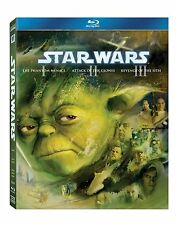 Star Wars - Prequel Trilogy   Blu-ray, 2013, 3-Disc Set     New       Fast  Post