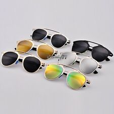 Fashion Women's Retro Eyewear Dual Horizontal Beam Lenses Sunglasses Full Frame