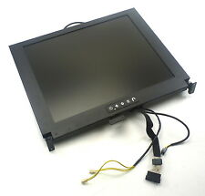 "ICP GLOBAL 17"" LCD KVM SCREEN FOR RACK MOUNTED CONSOLE   KVM MONITOR"