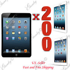 Wholesale 200pcs Premium Clear Film Screen Protector For iPad 4 3 2 1 Air Mini