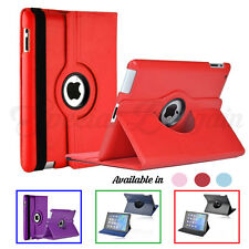 Leather 360° Rotating Smart Stand Case Cover For Apple iPad 2 3 4