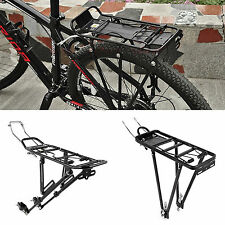 "Screw On Aluminium Bicycle Bike Rear Pannier Rack Carrier Fit for 24""/26""/28"