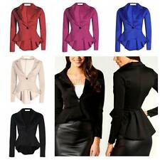 Elegent Women One Button Slim Casual Business Blazer Suit Jacket Coat Outwear