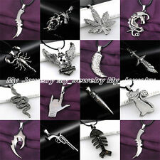 Stainless Steel Best Gifts Fashion Cool Women Men Black Pendant Necklace Jewelry