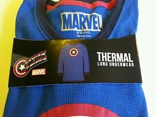 Mens Thermal Underwear Shirt Captain America Size Small