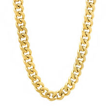 6 mm Wide Yellow Gold Plated 14k Overlay Miami Cuban Link Curb Long Neck Chain
