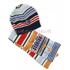NWt Deux par Deux Stadium Arcadium Scarf and Hat Set for boys 4/ 5y, 6/ 7y SEHF