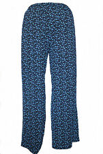 LADIES WOMENS FLORAL PRINT ELASTICATED PLAZZO TROUSERS SUMMER LOUNGE PANTS SIZE