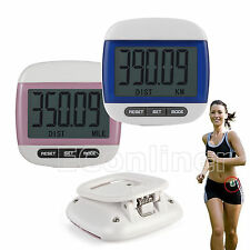 Digital LCD Pedometer Walking Step Distance Calorie Fit Counter Run Fitness Belt