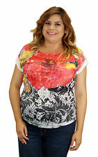 Floral Sublimation Womens Plus Size Flower Red Black White Vintage Rockabilly To